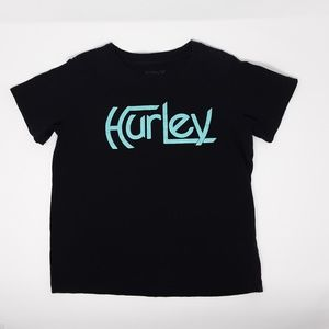 Hurley Black and Teal T-Shirt Boy's Size 6 / 7